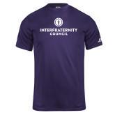 Russell Core Performance Purple Tee-Primary Logo Centered