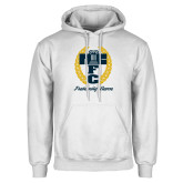 White Fleece Hoodie-Personalized Fraternity Name Script