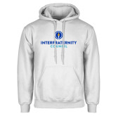 White Fleece Hoodie-Primary Logo Centered