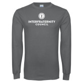 Charcoal Long Sleeve T Shirt-Primary Logo Centered