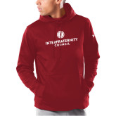 Under Armour Cardinal Armour Fleece Hoodie-Primary Logo Centered