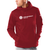 Under Armour Cardinal Armour Fleece Hoodie-Primary Logo Left