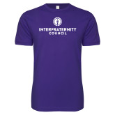 Next Level SoftStyle Purple T Shirt-Primary Logo Centered