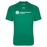 Under Armour Kelly Green Tech Tee-Primary Logo Left