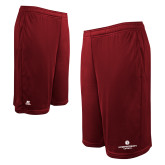 Russell Performance Cardinal 10 Inch Short w/Pockets-Primary Logo Centered