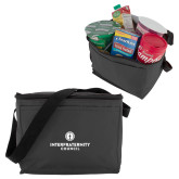 Six Pack Grey Cooler-Primary Logo Centered