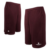 Russell Performance Maroon 10 Inch Short w/Pockets-Primary Logo Centered