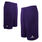 Russell Performance Purple 10 Inch Short w/Pockets-Primary Logo Centered