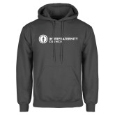 Charcoal Fleece Hoodie-Primary Logo Left