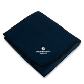 Navy Arctic Fleece Blanket-Primary Logo Centered