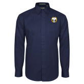 Navy Twill Button Down Long Sleeve-NICFC