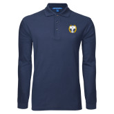 Navy Long Sleeve Polo-NICFC