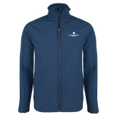 Navy Softshell Jacket-Primary Logo Centered