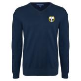 Classic Mens V Neck Navy Sweater-NICFC