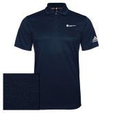 Adidas Climalite Navy Grind Polo-Primary Logo Left