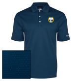 Nike Dri Fit Navy Pebble Texture Sport Shirt-NICFC