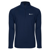 Sport Wick Stretch Navy 1/2 Zip Pullover-Primary Logo Left