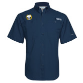 Columbia Tamiami Performance Navy Short Sleeve Shirt-NICFC