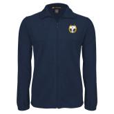Fleece Full Zip Navy Jacket-NICFC