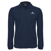 Fleece Full Zip Navy Jacket-Primary Logo Centered