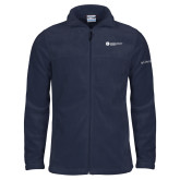 Columbia Full Zip Navy Fleece Jacket-Primary Logo Left