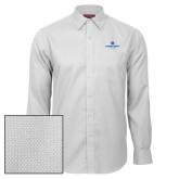 Red House White Diamond Dobby Long Sleeve Shirt-Primary Logo Centered