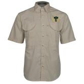 Khaki Short Sleeve Performance Fishing Shirt-NICFC