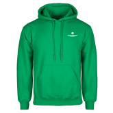 Kelly Green Fleece Hoodie-Primary Logo Centered
