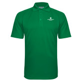 Kelly Green Textured Saddle Shoulder Polo-Primary Logo Centered