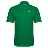 Kelly Green Textured Saddle Shoulder Polo-Primary Logo Left