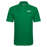 Kelly Green Textured Saddle Shoulder Polo-IFC
