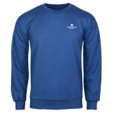 Royal Fleece Crew-Primary Logo Centered
