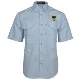 Light Blue Short Sleeve Performance Fishing Shirt-NICFC