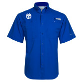 Columbia Tamiami Performance Royal Short Sleeve Shirt-NICFC