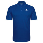 Royal Textured Saddle Shoulder Polo-Primary Logo Centered