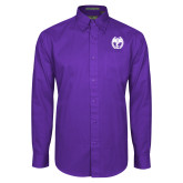 Purple Twill Button Down Long Sleeve-NICFC