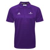 Adidas Climalite Purple Jacquard Select Polo-Primary Logo Centered