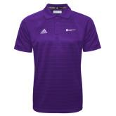Adidas Climalite Purple Jacquard Select Polo-Primary Logo Left