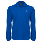 Fleece Full Zip Royal Jacket-Primary Logo Centered