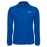 Fleece Full Zip Royal Jacket-Primary Logo Left