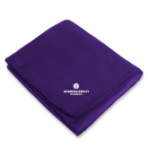 Purple Arctic Fleece Blanket-Primary Logo Centered