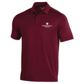 Under Armour Maroon Performance Polo-Primary Logo Centered