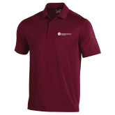 Under Armour Maroon Performance Polo-Primary Logo Left