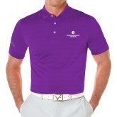 Callaway Opti Vent Purple Polo-Primary Logo Centered