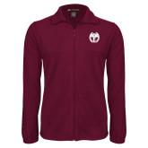 Fleece Full Zip Maroon Jacket-NICFC