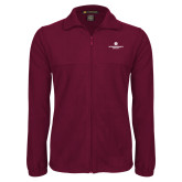 Fleece Full Zip Maroon Jacket-Primary Logo Centered