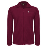 Fleece Full Zip Maroon Jacket-Primary Logo Left