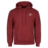 Cardinal Fleece Hoodie-Primary Logo Centered