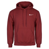 Cardinal Fleece Hoodie-Primary Logo Left