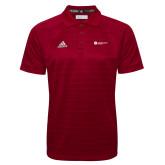 Adidas Climalite Cardinal Jacquard Select Polo-Primary Logo Left